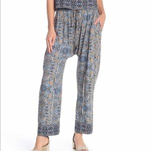 NWT Free People Make My Day Tapestry Pants